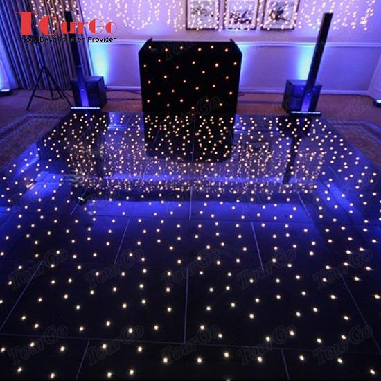 Tourgo Black Led Light Up Dance Floor