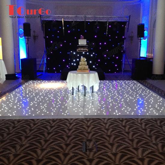 Portable Exhibition Lighting : Tourgo portable led starlit dance floor white flooring for