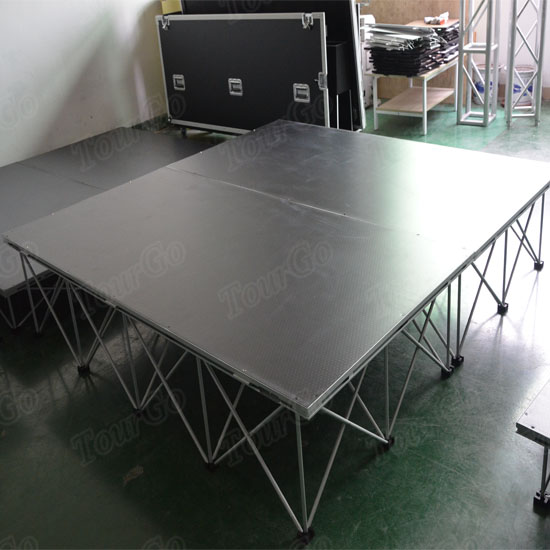 TourGo New Design Portable Stage System with Folding Stage