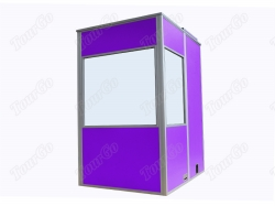 Mobile Soundproof Booth for One person in Purple