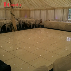 TourGo Wholesale Portable LED twinkling white dance floor on sales 22 x 16ft