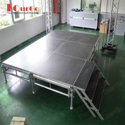 TourGo 8ft x 12ft Event Stage Rental with Portable Platforms for Indoor Wedding Stage