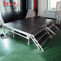 TourGo Concert Aluminum Stage System with Movable Stage Deck for Sale