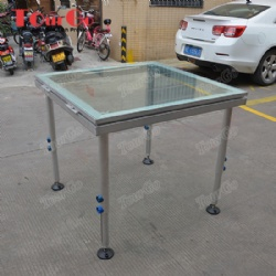 Aluminum Tempered Glass Stage 1.22*1.22m For Swimming Pool Event