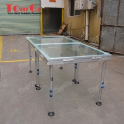 Aluminum Assembly Transparent Glass Acrylic Portable Stage for Swimming Pool