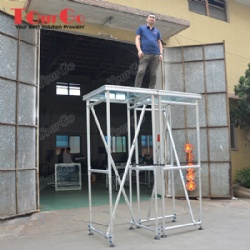 Swimming Pool Aluminum Glass Stage With 1.6-2.5m Adjustable Height For Wedding