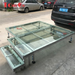 Aluminum Swimming Pool Stage With Acrylic Platform