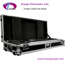 61 Key Board Case with Adjustable Z-lock Foam and Low Profile Wheels