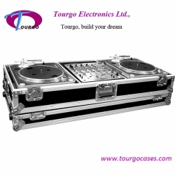 12inch Mixer Coffin W/ Wheels For 2pcs Turntable / Pioneer DJM500 Or DJM600 Mixer –Battle Style