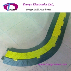 2 channel Rubber Cable Ramp 30° Turn